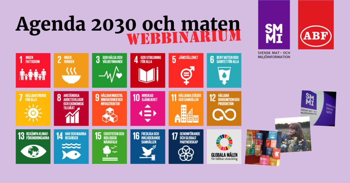 Gratis webbinarium om Agenda 2030 och maten 16 maj